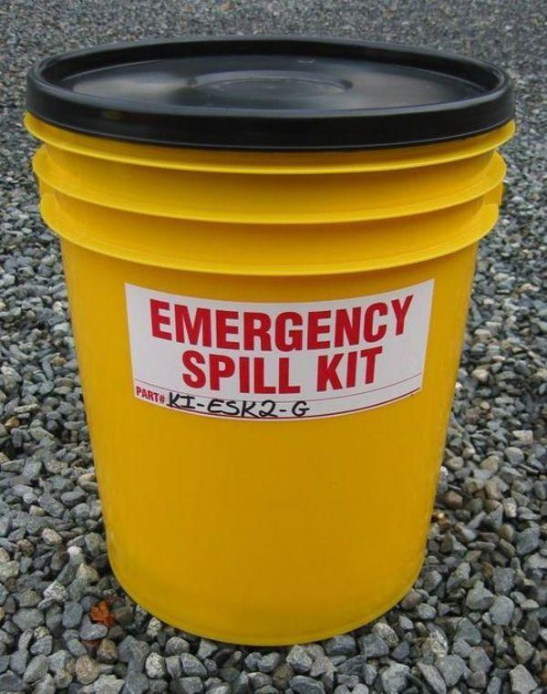 5 Gal. Yellow Pail Spill Kit + Granular - (KI-ESK2G),